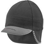 Louis Garneau Winter Cap: Black/Garneau Gray