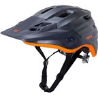 Kali Protectives Maya Helmet: Matte Gunmetal/Orange SM/MD