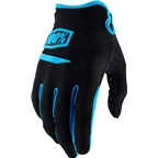100% Ridecamp Men's Full Finger Glove: Black