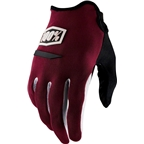 100% Ridecamp Men's Full Finger Glove: Brick