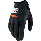 100% Ridecamp Men's Full Finger Glove: Charcoal