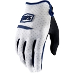 100% Ridecamp Men's Full Finger Glove: White