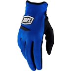 100% Ridecamp Women's Full Finger Glove: Blue
