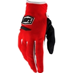100% Ridecamp Women's Full Finger Glove: Red