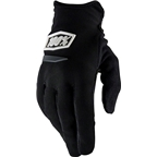 100% Ridecamp Women's Full Finger Glove: Black