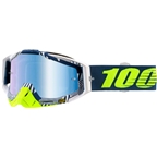 100% Racecraft Goggle: Eclipse with Mirror Blue Lens, Spare Clear Lens Included
