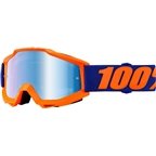100% Accuri Goggle: Origami with Mirror Blue Lens, Spare Clear Lens Included