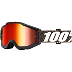 100% Accuri Goggle: Krick with Mirror Red Lens, Spare Clear Lens Included