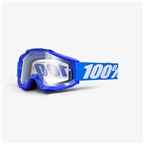 100% Accuri Enduro Goggle: Reflex Blue with Dual Pane Vented Clear Lens
