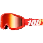 100% Strata Goggle: Furnace with Mirror Red Lens