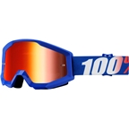 100% Strata Goggle: Nation with Mirror Blue Lens