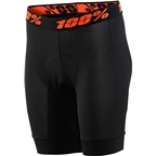100% Crux Women's Liner Short with Chamois: Black