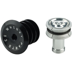 "Whisky Compression Plug with Topcap 1-1/8"" Black"