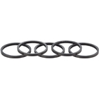 Whisky 2.5mm UD Carbon Spacer Gloss Black 5-pack