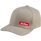 Salsa Flexfit Script Cap: Gray/Red