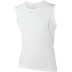Craft Cool Mesh Super Light Sleeveless Mens Base Layer Top: White