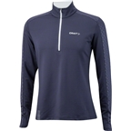 Craft Facile Men's Embossed Halfzip: Blue