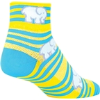 SockGuy Classic Ellie Women's Sock: Yellow/Blue SM/MD