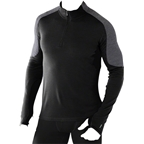 Smartwool PhD Light Men's Long Sleeve 1/4 Zip Base Layer Top: Black