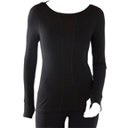 Smartwool PhD Light Women's Long Sleeve Base Layer Top: Black