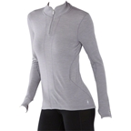 Smartwool PhD Light Women's Long Sleeve 1/4 Zip Base Layer Top: Light Gray