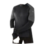 Smartwool PhD Light Men's Long Sleeve 1/2 Zip Printed Wind Top: Black