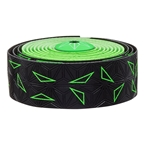 Supacaz Super Sticky Kush Bar Tape, Starfade Black And Green