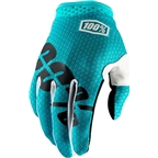 100% iTrack Full Finger Glove: Teal