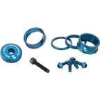 Wolf Tooth Components BlingKit: Headset Spacer Kit 3, 5,10, 15mm, Blue