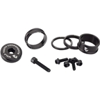 Wolf Tooth Components BlingKit: Headset Spacer Kit 3, 5,10, 15mm, Black