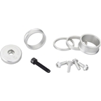 Wolf Tooth Components BlingKit: Headset Spacer Kit 3, 5,10, 15mm, Silver