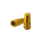 Alligator Alloy Valve Cap, Presta, Gold - Pair