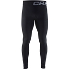 Craft Warm Intensity Men's Base Layer Pant: Black/Granite