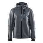 Craft Ride Men's Rain Jacket: Gray Melange