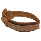 Cardiff Leather Trouser Bands, Brown, Pair