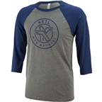 Ketl Logo Baseball T-Shirt: Blue/Gray