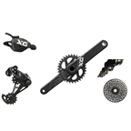 SRAM X01 Eagle Drive Train Kit-In-A-Box GXP Boost 148 175mm 32T Trigger Shifter, Gray/Black, No Brakes, No Bottom Bracket