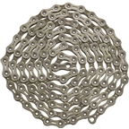 YBN Nickel Plated Silver 11-speed Chain, 116 Links, 5.5mm Wide with One Reusable QRS Master Link