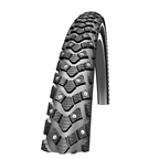 Schwalbe Marathon Winter Tire, 700 x 35 Wire Bead Black with Reflective Sidewall and RaceGuard Protection