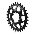 Gamut Spiderless GXP Direct Mount Chainring, 28T - Black