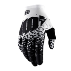 100% Celium 2 Glove, Metal/White