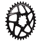 Gamut Spiderless GXP Direct Mount Chainring, 34T - Black