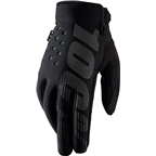 100% Brisker Youth Glove: Black