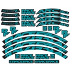 RaceFace Decal Kit for Arc 24 Rims and Aeffect SL 24 Wheels, Teal