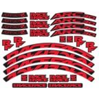 RaceFace Decal Kit for Arc 30 Rims and Aeffect R 30 Wheels, Red