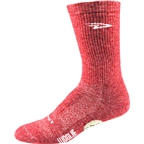 "DeFeet Woolie Boolie 6"" Comp Sock: Red Heather"