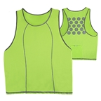 CycleAware Reflect+ Hi-Vis Reflective Women's Vest: Neon Green/Dots