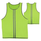 CycleAware Reflect+ Hi-Vis Reflective Unisex Vest: Neon/Stripes