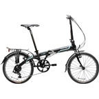 "Dahon Vybe D7 20"" Folding Bike with Rack and Fenders Obsidian Matte"