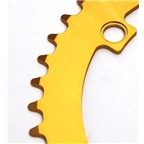 Pake Track Chainring, 130BCD X 48T Gold